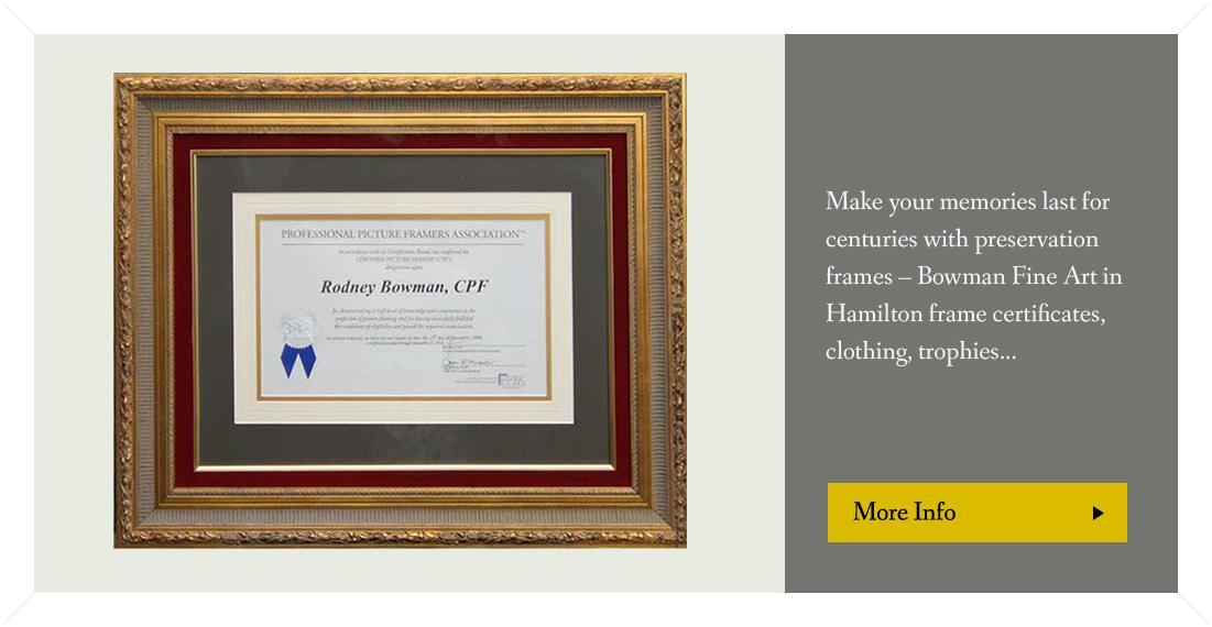 Picture Framer Hamilton, framing, certified framers